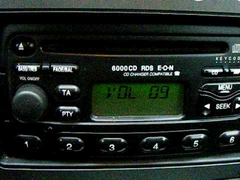 hqdefault ford mondeo 6000cd rds eon cd changer youtube ford 3000 wiring diagram at virtualis.co