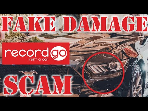 RecordGo Rental Car Commit Fraud With Faked Damage Photos Scam
