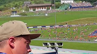 Moto GP start, 1st lap, Red Bull Ring, Austria, Spielberg, 12.8. 2018