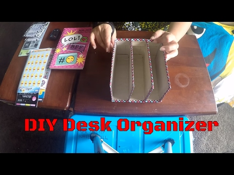 DIY - Desk Organizer - Paper Holder - Recycle Cardboard Box / Cereal Box - Step by Step Tutorial