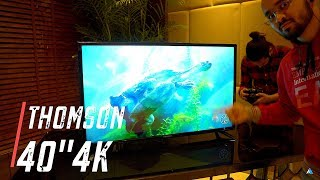 [HINDI] Thomson 40 inch 4k TV hands on REVIEW UD9 102cm LED Smart TV (40TH1000)