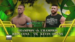 WWE Money In The Bank 2015 Predictions John Cena vs Kevin Owens(WWE 2K15)
