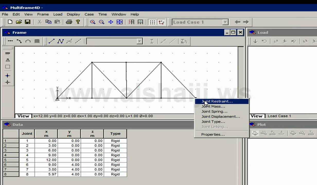 Analyazing a Simple Truss Using Multiframe 4D - YouTube
