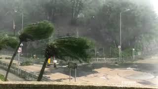 山竹超強颱風吹襲香港10號風球威力