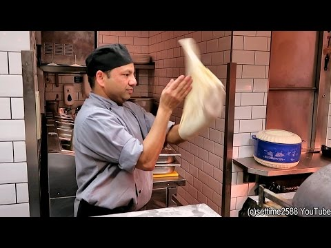 London Food From India. Making Naan Bread In Dishoom Restaurant