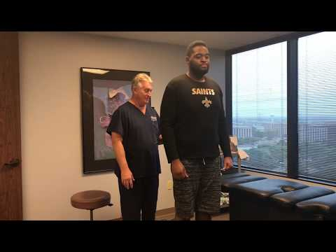 """6' 7""""  300 LB Football Player Adjusted By 6' 239 LB  Old Man Strength Houston Chiropractor"""