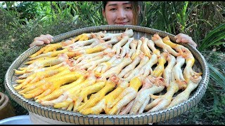 Yummy Chicken Feet Salad Cooking - Chicken Feet Recipe - Cooking With Sros