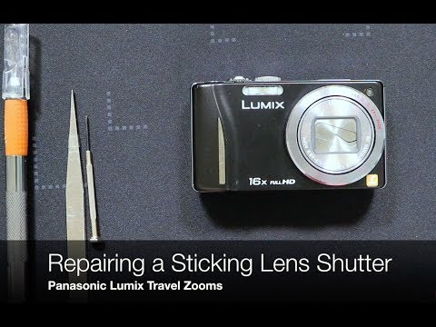Panasonic Lumix Travel Zoom - Sticking Lens Shutter Repair