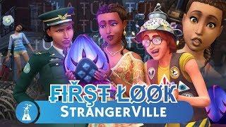 First Look I The Sims 4 STRANGERVILLE  | Cas i tryb budowania ( Pakiet Rozgrywki )