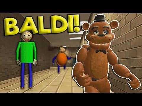 SURVIVING THE HAUNTED BALDIS SCHOOL! - Garrys Mod Gameplay - Gmod Multiplayer Baldi Fnaf Survival