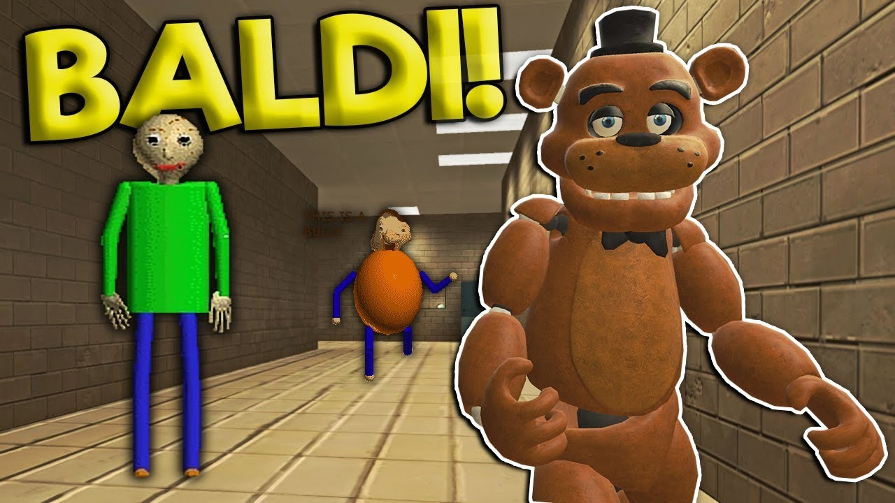 SURVIVING THE HAUNTED BALDI'S SCHOOL! - Garry's Mod Gameplay - Gmod Multiplayer Baldi Fnaf