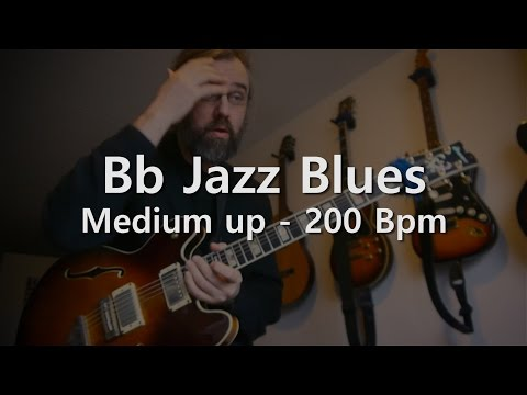 Bb Blues  - Backing Track - Play Along -  Medium up - 200 bpm