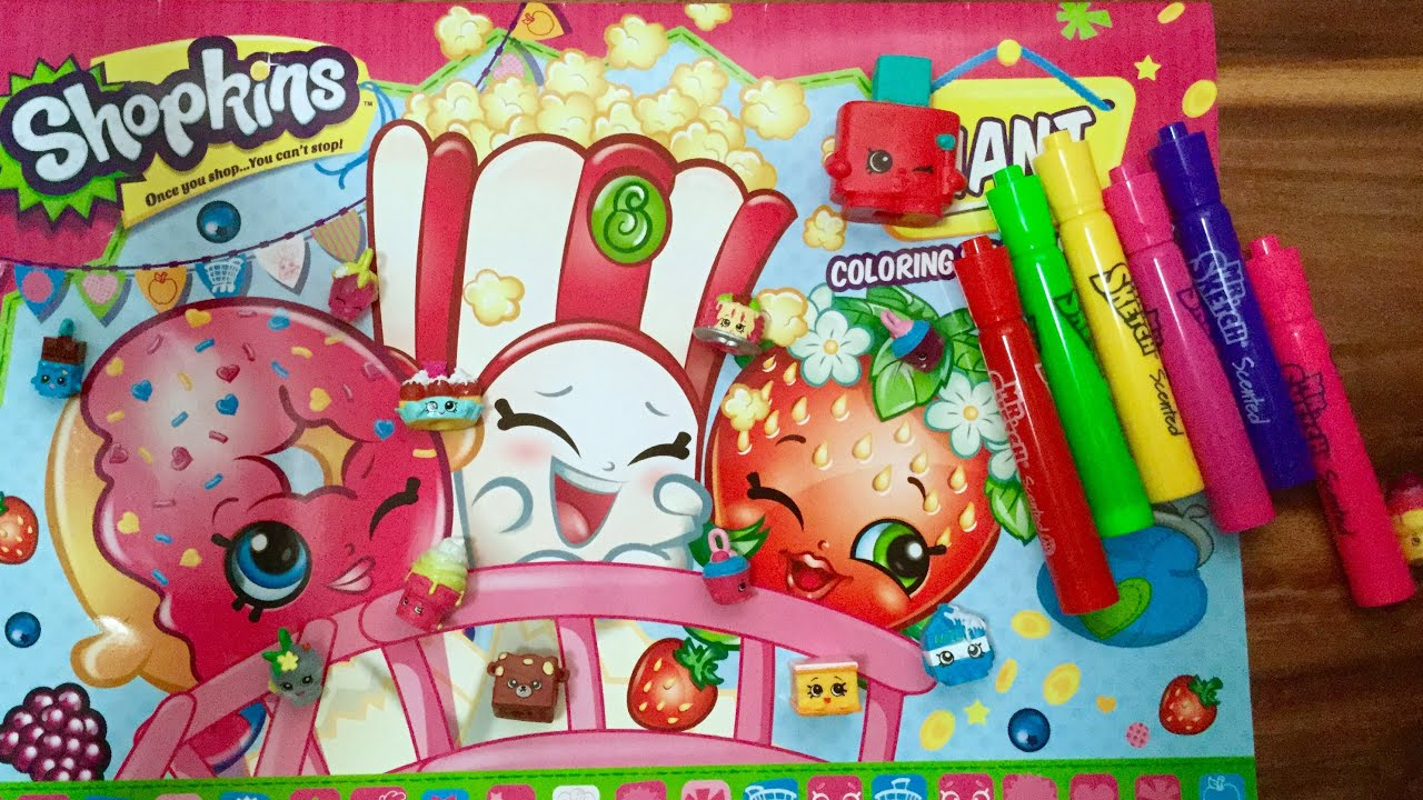 Shopkins Giant Coloring Craft And Activity Book With Mr Sketch Markers