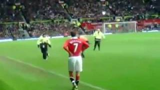 David Beckham Catches a Kid Running on the Field.mp4