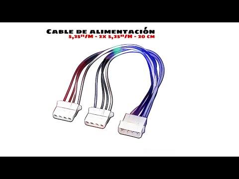 Video de Cable alimentacion molex 5.25 0.15 M Negro
