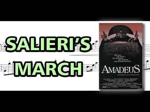 Salieri's March to Mozart [Amadeus] | Piano Sheet Music