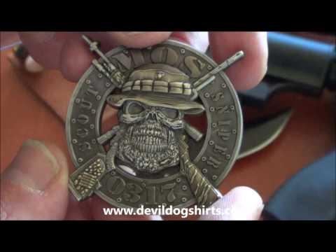 USMC MOS0317 Scout Sniper Coin