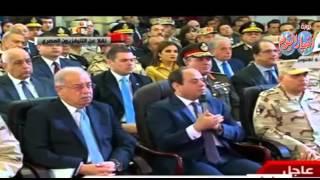 السيسي:اتفقنا على المصارحة والشفافية وما يحدث في مصر من مشروعات لن يوقف البناء العشوائي