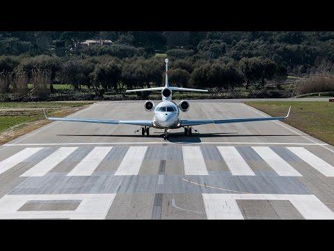 Falcon 7X Landing at La Môle -- Saint-Tropez Airport