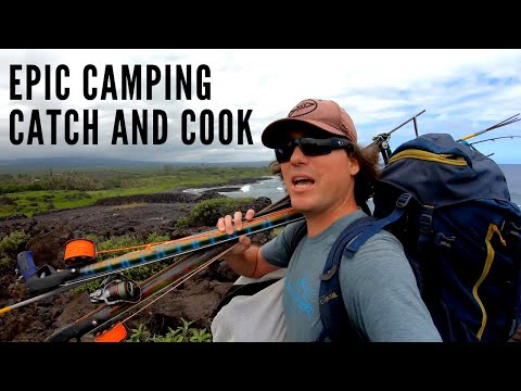 Spearfishing Hawaii Epic Camping, Fishing, And Three Prong, Catch And Cook