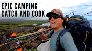 Spearfishing Hawaii Epic Camping, Fishing, aฑd Three Prong, Catch and Cook