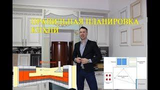 видео Как правильно расставить мебель на кухне. Дизайн кухни 16 кв м.