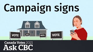 Do election signs affect who we vote for? | Ask CBC News