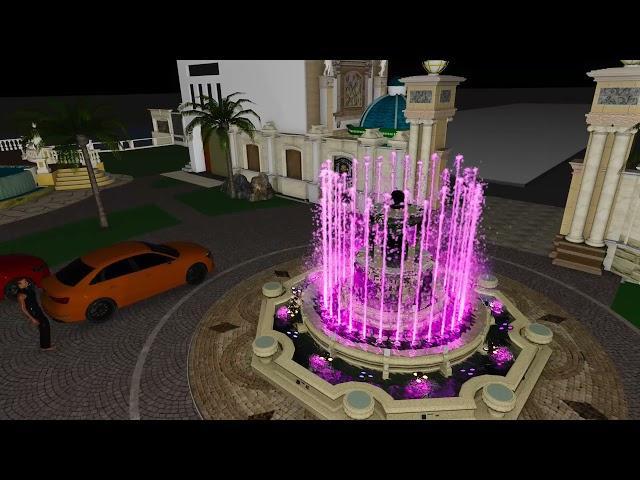 Luxury house fountain model - Thiết kế nhạc nước biệt thự cao cấp