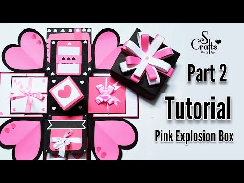 Explosion Box Tutorial   Part 2   Gift for her   Easy tutorials   Handmade   S Crafts