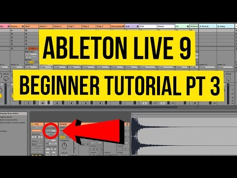 Ableton Live 9 Beginner Tutorial Pt 3 - Recording, Warping, & Automation (2017)