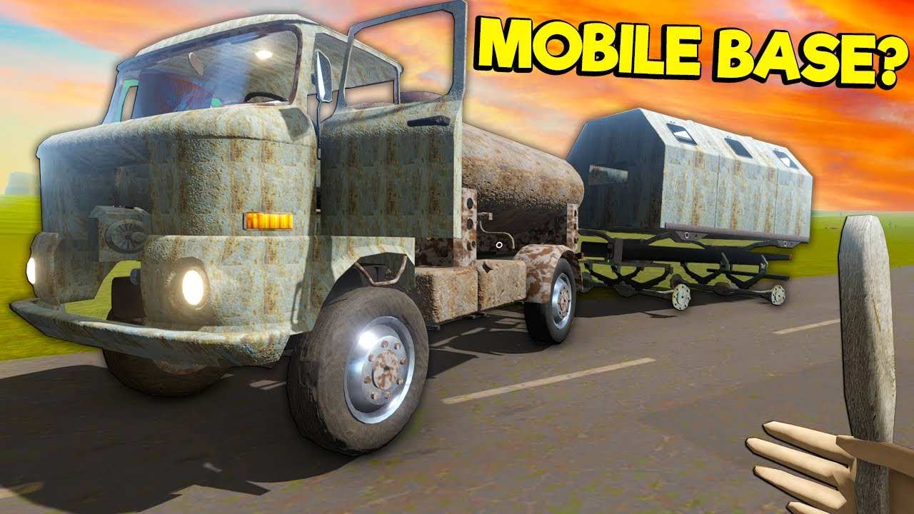 I Found a Mobile Base Truck Trailer in the NEW Long Drive Update?!