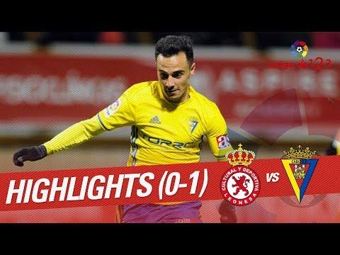Resumen de Cultural Leonesa vs Cádiz CF (0-1)
