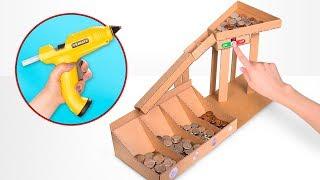 段ボールで作るDIY自動コイン仕分けマシーン
