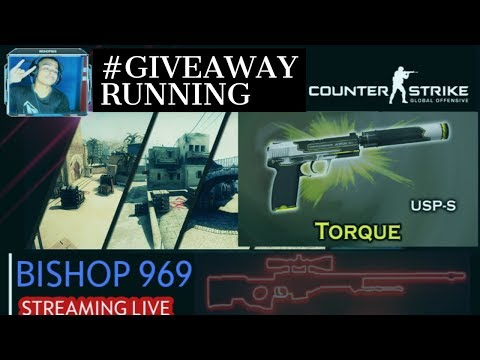 CSGO LIVE !GIVEAWAY(USPS- TORQUE) | #1K-AINT-FAR #DAY4