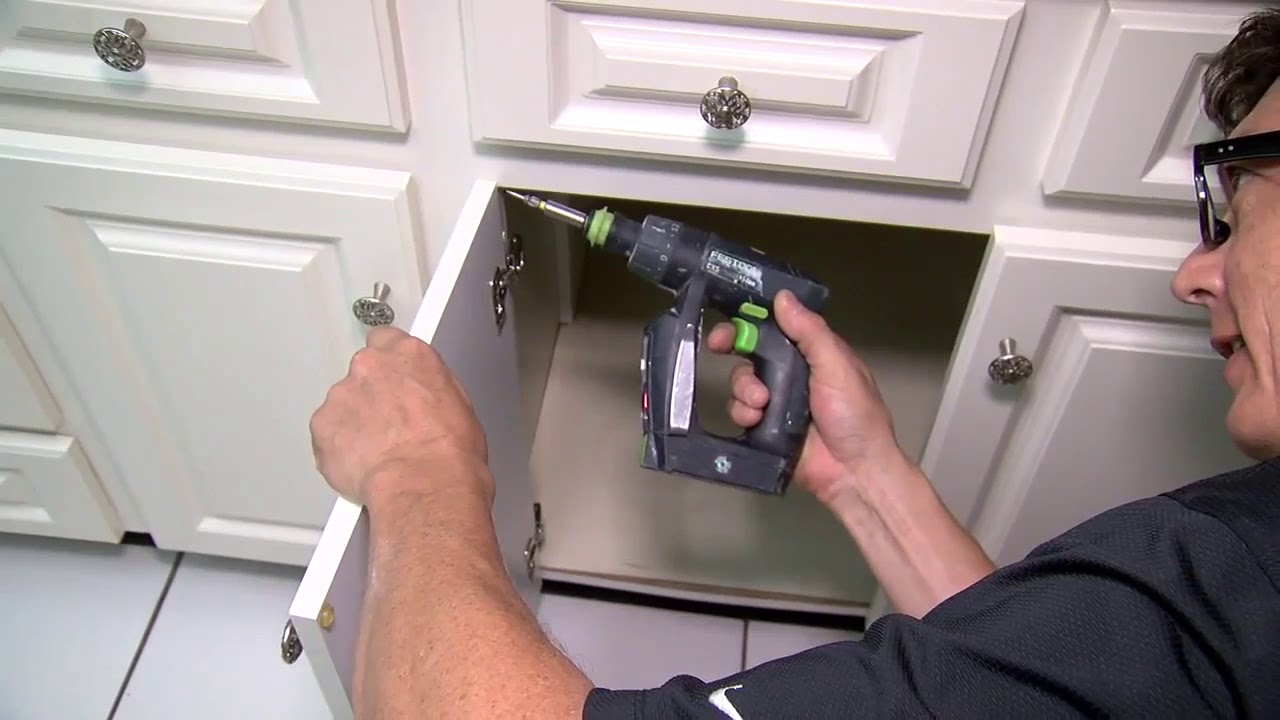 How to replace hinges on kitchen cabinets   House Calls with James Tully