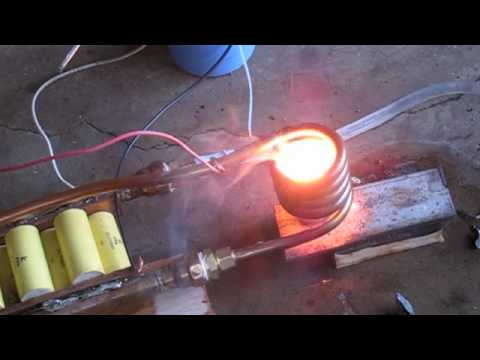 3 kilowatt Induction heater melting zinc metal