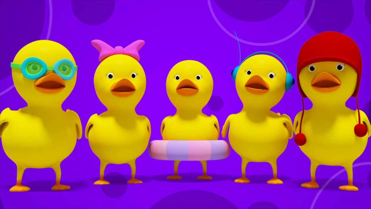 Five Little Ducks | 3D Nursery Rhymes | Kids Songs ...