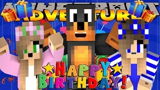 Minecraft - Donut the Dog Adventures - MY SURPRISE BIRTHDAY PARTY!!!!