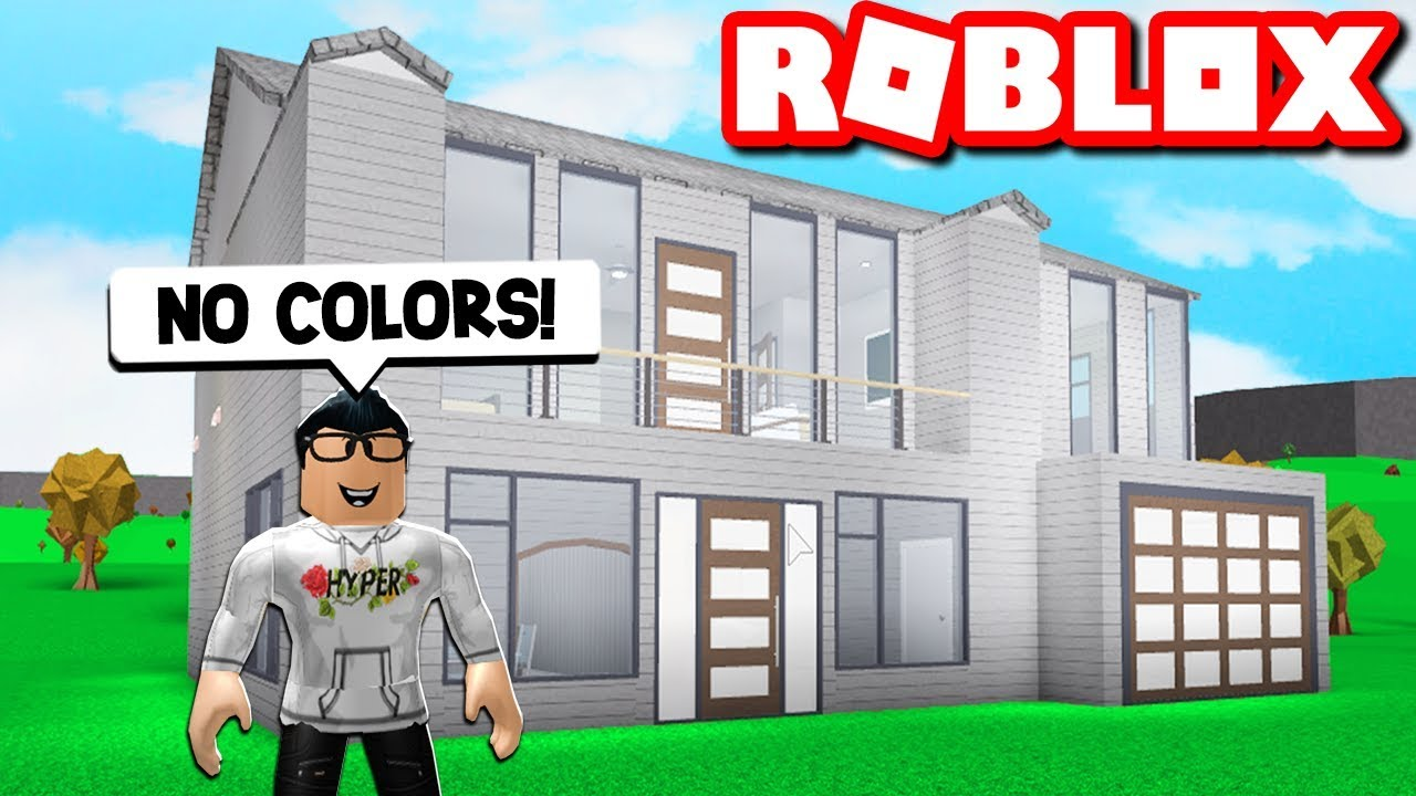 i did the bloxburg no color house challenge    roblox