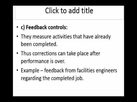 MG8591 Principles Of Management (Part 2: Types Of Control, Budget, Classification Of Budget)
