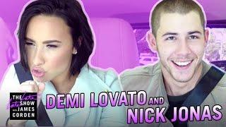 Download Demi Lovato & Nick Jonas Carpool Karaoke