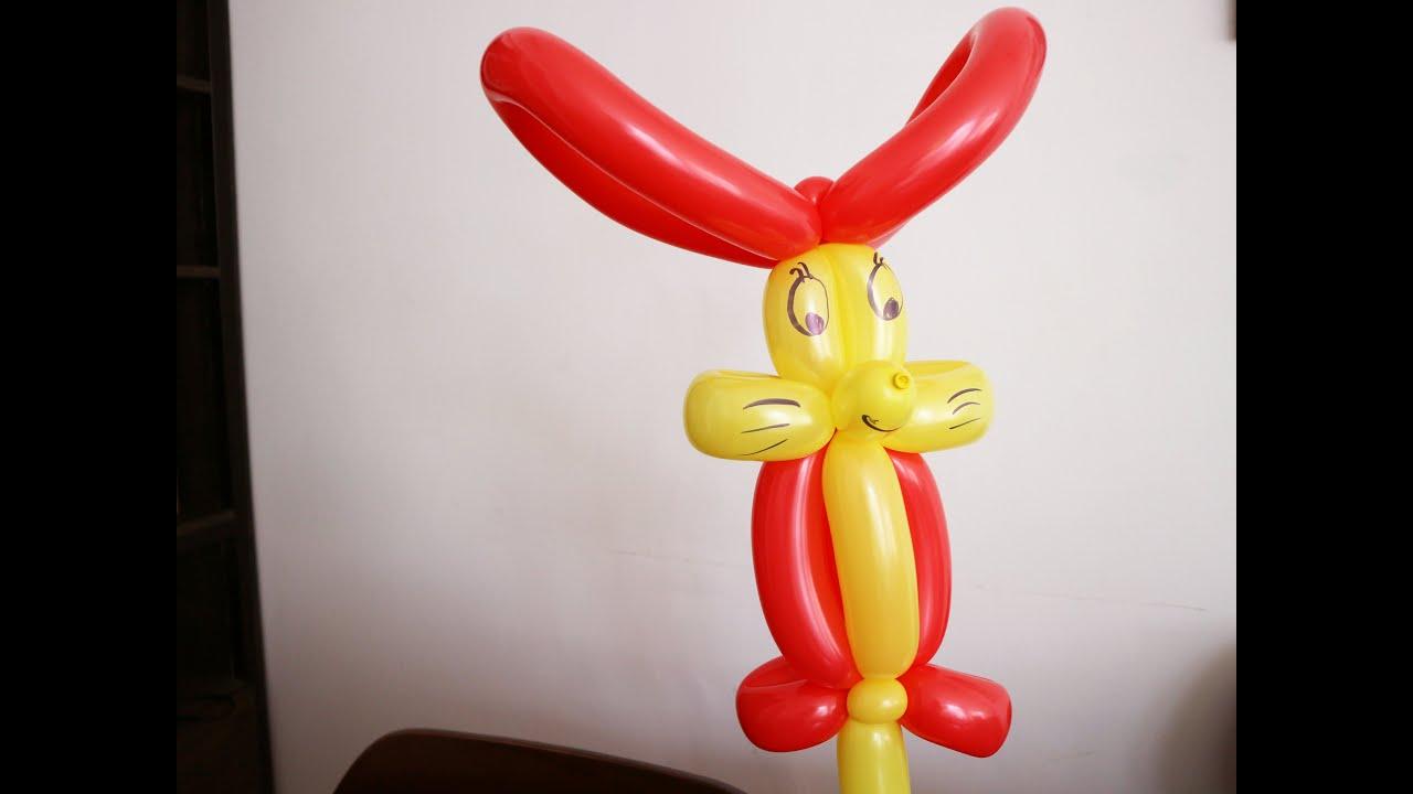 Làm con thỏ bằng bong bóng tạo hình