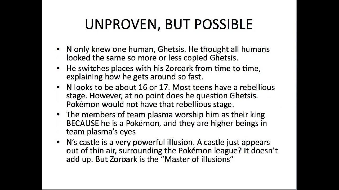 N Zoroark Theory Pokemon Theory Video: ...