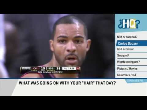 Carlos Boozer Explains Hair on Highly Questionable Interview