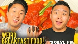 WEIRD BREAKFAST FOOD COMBOS!