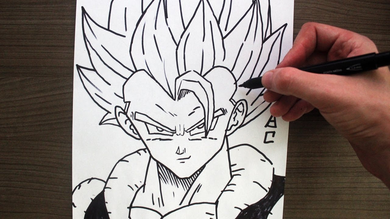 Como Desenhar O Gogeta Ssj Blue Dragon Ball Super How To Draw
