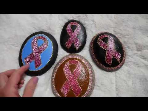 How to paint dot mandalas with Kristin Uhrig #50- Pink Ribbon
