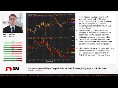 Forex News: 23/01/2019 - Yen pulls back as risk-off eases; kiwi jumps on inflation beat