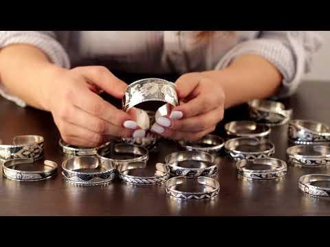 Кубачинские браслеты из серебра с чернью купить в магазине Апанде. РУ