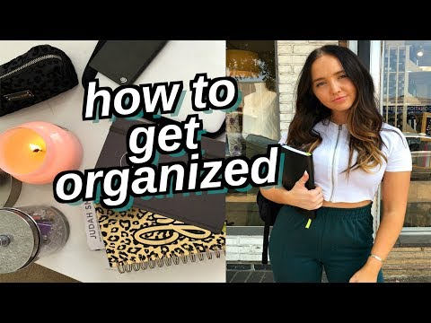 how to stay organized for the school year | how to be productive